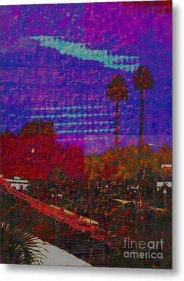 Twin Palms Purple Haze Metal Print by J Burns