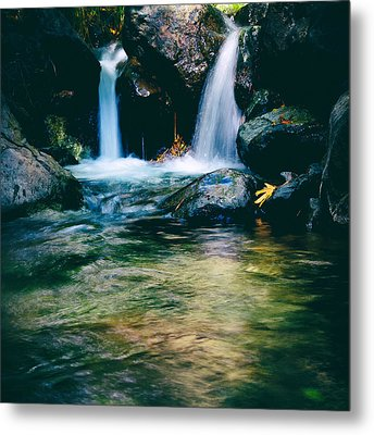Twin Waterfall Metal Print by Stelios Kleanthous
