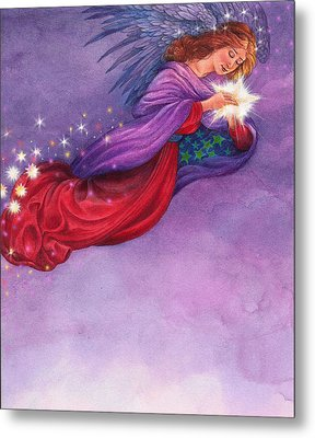 Metal Print featuring the painting Twinkling Angel by Judith Cheng