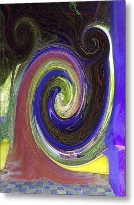 Twirl Metal Print by Soumya Bouchachi