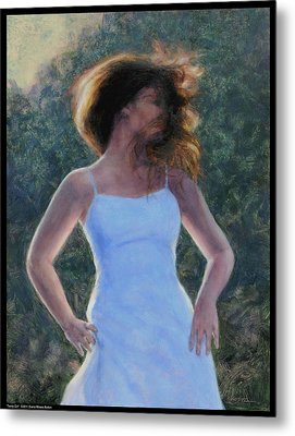 Twirly Girl Metal Print by Diana Moses Botkin