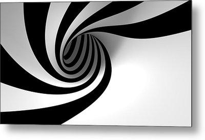 Twirly Shapes Metal Print by Gianfranco Weiss