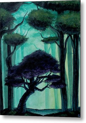 Twisted Forest Metal Print by Erin Scott