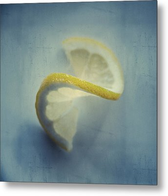Twisted Lemon Metal Print