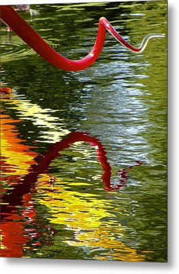 Twisted Ripples Metal Print