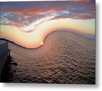 Metal Print featuring the photograph Twisted Sunset by Aimee L Maher Photography and Art Visit ALMGallerydotcom