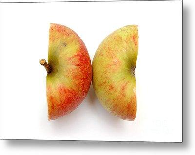 Two Apple Halves Metal Print by Michal Bednarek