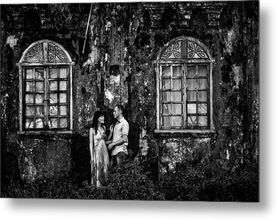 Two At The Old Wall 1. Margao. India Metal Print