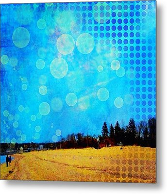 Two At Twilight #instaphoto #altered Metal Print by Robin Mead