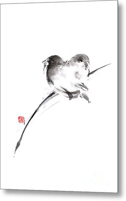Two Birds Minimalism Artwork. Metal Print by Mariusz Szmerdt
