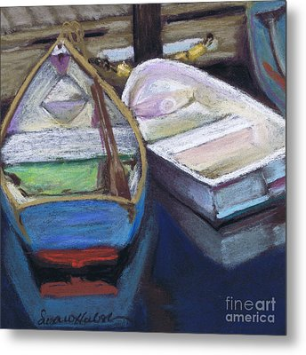 Metal Print featuring the painting Two Boats Bernard by Susan Herbst
