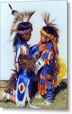 Metal Print featuring the photograph Two Brothers by Debra Kaye McKrill
