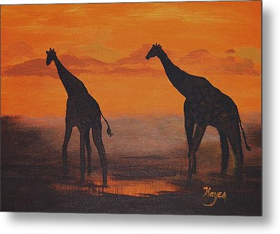 Two By Two Metal Print by Barbara Hayes
