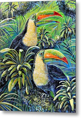Two Can Sing Metal Print by Gail Butler