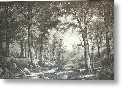 Two Centuries Ago Metal Print by Sherlyn Morefield Gregg