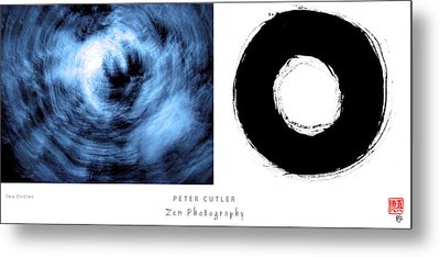 Two Circles Metal Print