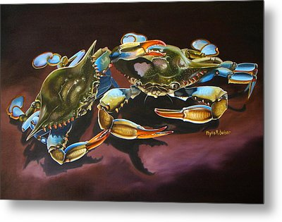 Two Crabs Metal Print