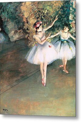Two Dancers On A Stage Metal Print by Edgar Degas