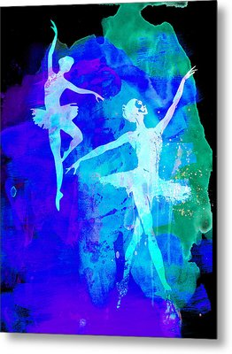 Two Dancing Ballerinas  Metal Print by Naxart Studio