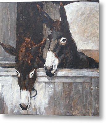 Two Donkeys Metal Print by Anke Classen