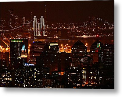 Two Downtowns Metal Print by Michael Courtney