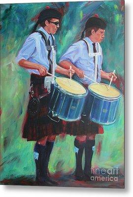 Two Drummers Metal Print