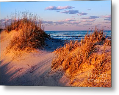 Two Dunes At Sunset - Outer Banks Metal Print by Dan Carmichael