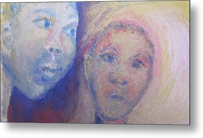 Two Faces Metal Print by Cherie Sexsmith