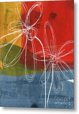 Two Flowers Metal Print by Linda Woods