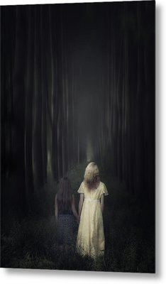 Two Girls In A Forest Metal Print by Joana Kruse