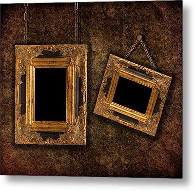Two Hanging Frames Metal Print by Amanda Elwell