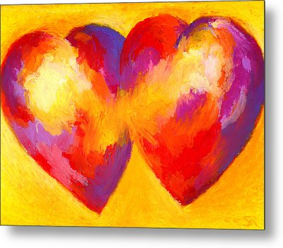 Two Hearts Beat As One Metal Print by Stephen Anderson