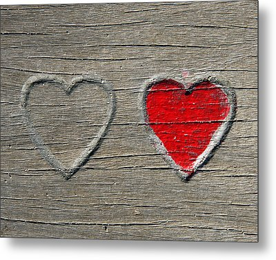 Metal Print featuring the photograph Two Hearts by Brooke T Ryan
