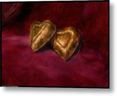 Two Hearts Metal Print by Diana Moses Botkin
