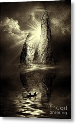 Two In A Boat Metal Print by Svetlana Sewell