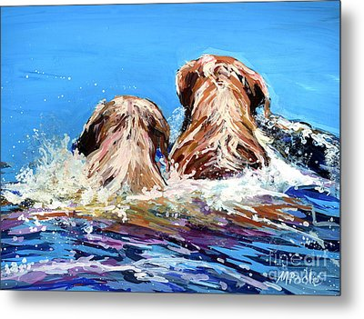 Two Labs One Wake Metal Print