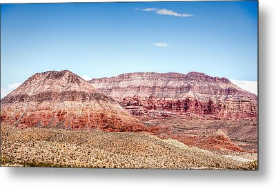 Two Layered Mountains Metal Print