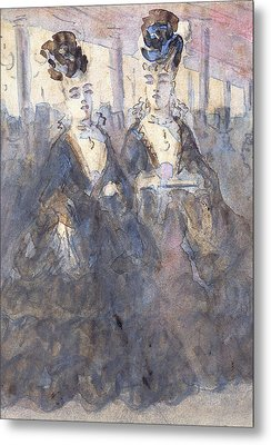 Two Lorettes At The Theater Metal Print