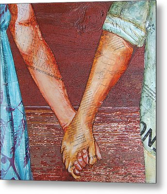 Two Lovers Entwined Metal Print by Danny Phillips