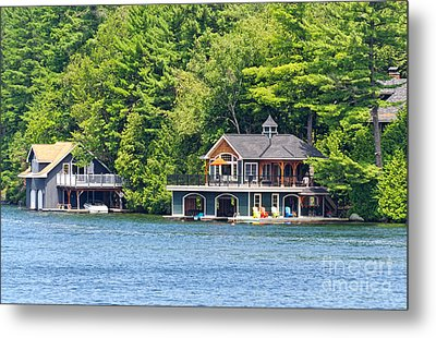 Two Luxury Boathouses Metal Print
