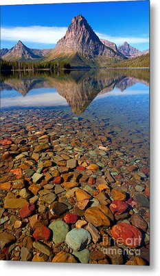 Two Medicine Reflection Metal Print by Aaron Whittemore