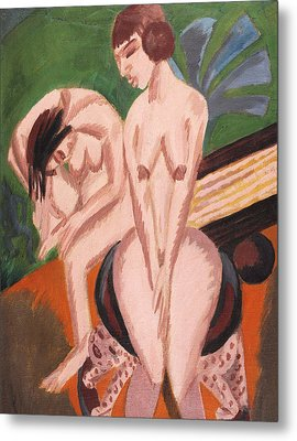 Two Nudes In The Room Metal Print by Ernst Ludwig Kirchner