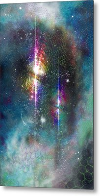 Two Of Wands/stars - Artwork For The Science Tarot Metal Print