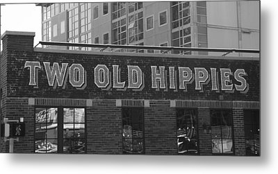 Two Old Hippies In Nashville Metal Print