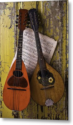 Two Old Mandolins Metal Print