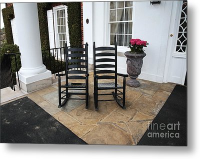 Two On The Porch Metal Print by John Rizzuto