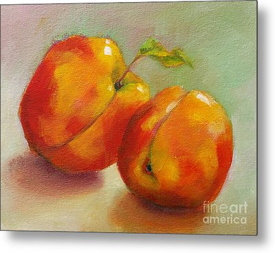 Two Peaches Metal Print