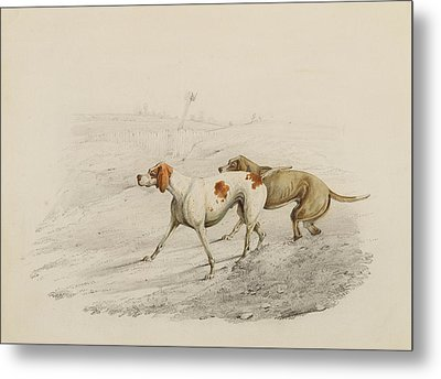 Two Pointers Metal Print by Henry Thomas Alken
