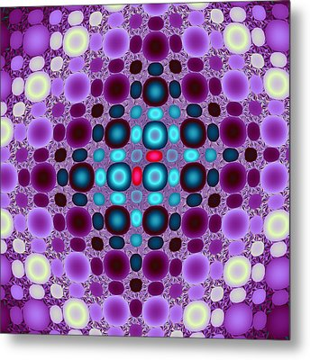 Two Red Beads Metal Print by Mark Eggleston