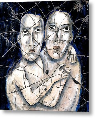 Two Souls - Study No. 2 Metal Print by Steve Bogdanoff